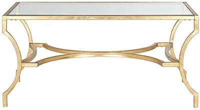 Safavieh Lewis Coffee Table, Metal, Gold/Glass