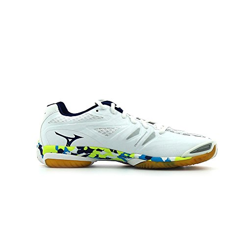 Mizuno Wave Mirage Chaussure Sport En Salle - SS17 White / Blue Depths / S Yellow
