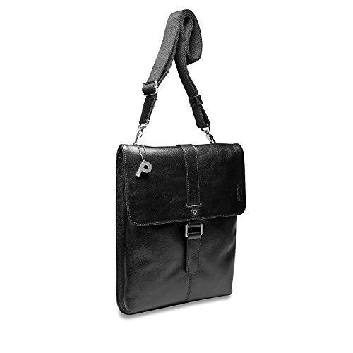 Picard Buddy 4542 Herren Messengerbags, 28x33x4 Cm (bxhxt) Schwarz (schwarz)