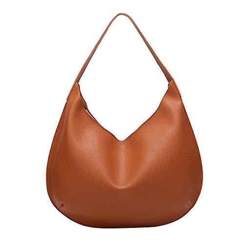 Damentasche Frauen PU Leder Laptop Satchel Umhängetasche Mehrzweck Vintage Taschen Umhängetasche Aktentasche Für Die Tägliche Arbeit Schule (Farbe: Braun) (Color : Brown, Size : S) Cabrio Laptop-computer
