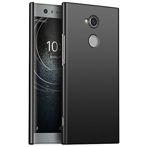 Sony Xperia XA2 Hülle, Stilvoller Ultradünne Handyhülle. GOGME Hart Schutz Schutzhülle Für Sony Xperia XA2. Der Einfachste Und Effektivste Schutz Abdeckung Des Telefon. schwarz