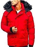 BOLF Herren Winterjacke Steppjacke Sportjacke Reißverschluss Casual Style J.Style 201821 Rot XL [4D4]