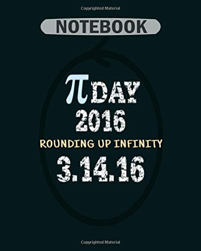 Notebook: pi day 2016 logo light - 50 sheets, 100 pages - 8 x 10 inches