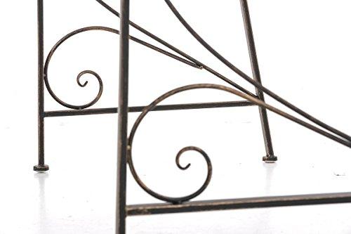 CLP Gartenbank AZAD im Landhausstil, Eisen lackiert, ca 110 x 50 cm Bronze - 9