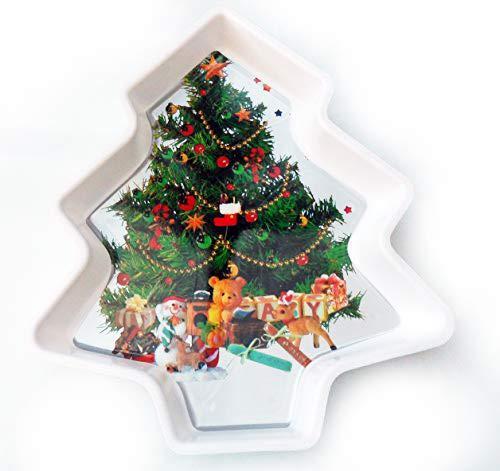 (homestreet Serviertablett, Weihnachtsbaum-Form und Bild für Snacks Etc.)