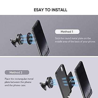 UGREEN-Autohalterung-Handy-Halterung-Magnet-Auto-Halterung-360-Grad-Armaturenbrett-KFZ-Halterung-untersttzt-fr-iPhone-X88-Plus77Plus-Samsung-Galaxy-S10S9S8S7J5J7A5-Navi-usw