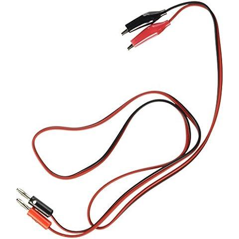 Sourcingmap a12032000ux0088 - Prueba de cocodrilo clip de plomo al conector banana 90cm cable de la