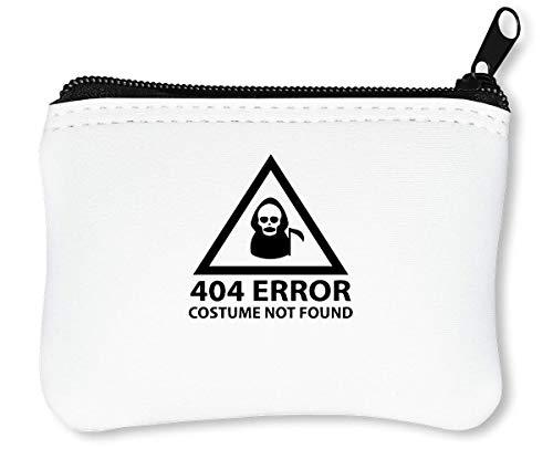 404 Error Not Found Funny Cool Reißverschluss-Geldbörse Brieftasche Geldbörse (Halloween Für Scary Movie-ideen)