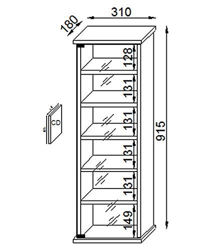 41FrXE0ToPL - VCM Vetro-Torre para CD/DVD, para 150 CDs, Color Cerezo