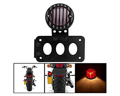 Support plaque immatriculation Support latéral furiauto vertical Tail Light pour