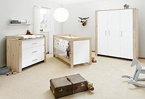Pinolino Candeo Nursery Set di mobili (Wide, grande, (Biancheria Oak Bed)