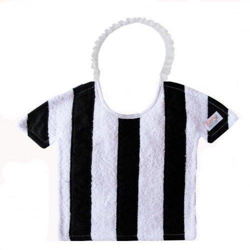Zigozago - Bavaglino Football a RIGHE BIANCO E NERE; Chiusura: Elastico; Taglia: Unica