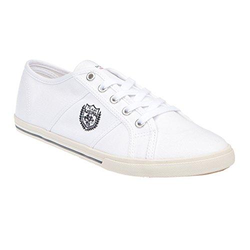U.S. POLO Scarpe Basse Donna Chiusura Con Lacci, Stile Sneaker - mod. RUMBA4187S7-C1 Bianco