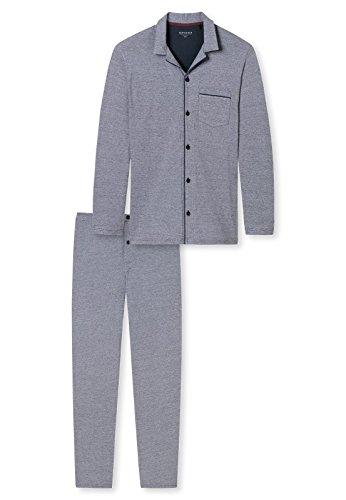 Schiesser Herren Schlafanzughose Pyjama Lang, Grau (Anthrazit 203), XX-Large (Herstellergröße 056)