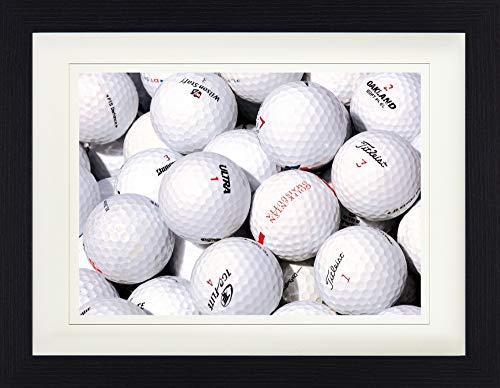 1art1 113868 Golf - Golfbälle Gerahmtes Poster Für Fans Und Sammler 40 x 30 cm -