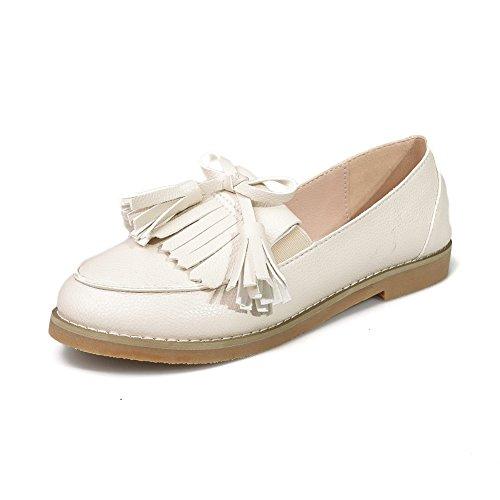 fereshte ,  Damen Durchgängies Plateau Sandalen mit Keilabsatz Gebrochenes Weiß