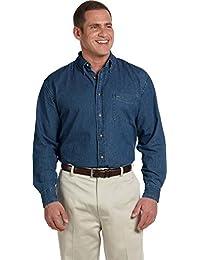 Harriton Men's Long Sleeve Denim Shirt