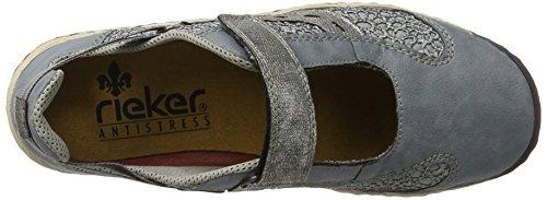 Rieker L0578, Sneakers Basses Femme Bleu (Adria/jeans/altsilber / 12)