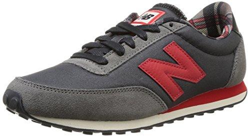 New Balance - U410 D, Sneakers unisex Grigio (GRIS/ROUGE)