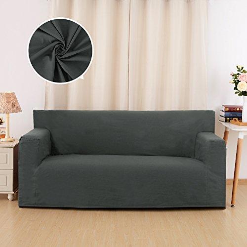 Deconovo copridivano impermeabile a 3 posti fodera per divano 90x60x206cm grigio scuro