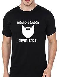 Supremo Cotton Beard Season Printed Round Neck T-shirt For Men's