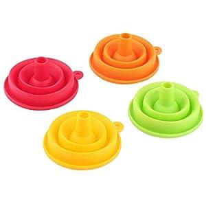 eventos tolva: IDEA - Embudo plegable de gel, tamaño pequeño, fácil de almacenar, para cocina