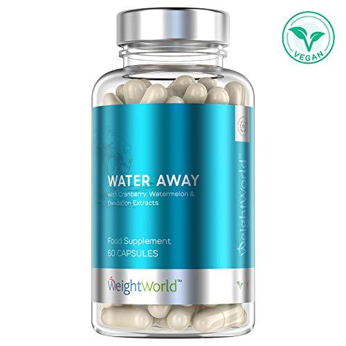 Water away integratore drenante diuretico naturale - 60 capsule - contro gonfiore, ritenzione idrica, liquidi in eccesso - estratto di tè verde, tarassaco, vitamina b6, mirtillo rosso - weightworld