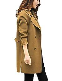 DEELIN Femmes Automne Hiver Veste De Mode Quotidien Décontracté Outwear  Parka Bouton Cardigan Slim Manteau Manteau 971b7a3e7c86