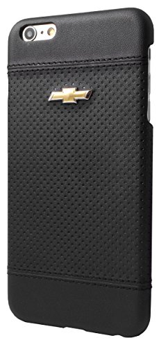Preisvergleich Produktbild Chevrolet CHHCP6LDEBL Emblem harte Schutzhülle Debossed Punkte für Apple iPhone 6 Plus / 6S Plus schwarz