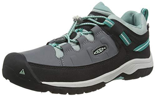 Keen Targhee, Imperméable, Zapatos de Low Rise Senderismo Unisex Niños, Negro Steel Grey/Wasabi 001...