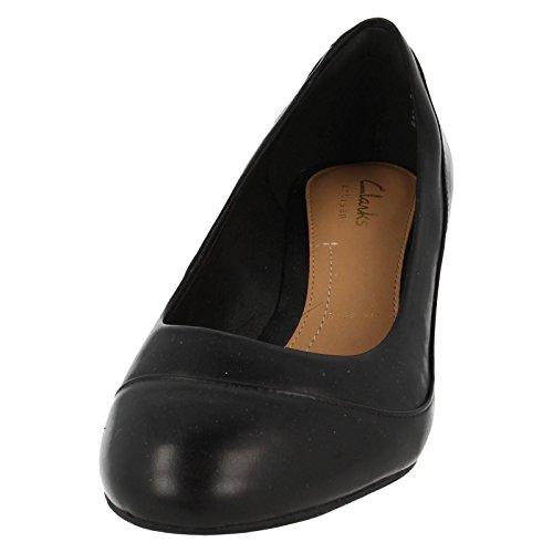 Clarks Denny Harbour, Chaussures de ville femme Noir - noir