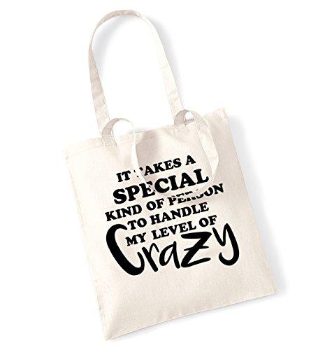 Si Tiene Un tipo speciale di persona a manico mio livello di Crazy borsa Natural