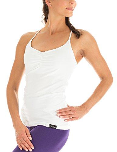 Winshape Damen Spaghetti Strap Top Fitness Yoga Pilates, Weiß, M, WVR27-WEISS-M