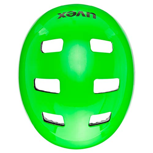 UVEX Kinder Kid 3 Radhelm, Dirtbike Green, 55-58 cm - 5