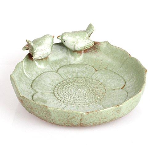 ncyp Vintage in Ceramica in ceramica 2uccelli su foglia vaso