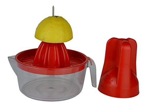 IKOLIFE Zitruspresse mit Dorn. Endlich ohne Kraftaufwand! Einzigartig einfach! Entsaften von Orangen, Zitronen oder Limetten. (Orangenpresse, Zitronenpresse, Limettenpresse) BPA frei, Made in EU