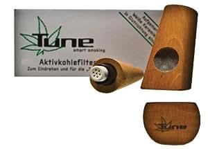 Tune Pipe en bois de poirier avec filtre au charbon actif 11,5 cm