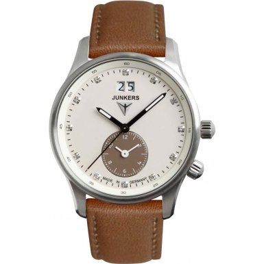 Junkers Iron Annie JU52 Dual Time Ladies Watch 6645-4