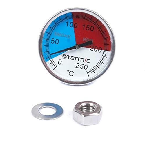 250 °C Grad Räucher Thermometer Analog Räucherthermometer Räucherofen Grill BBQ