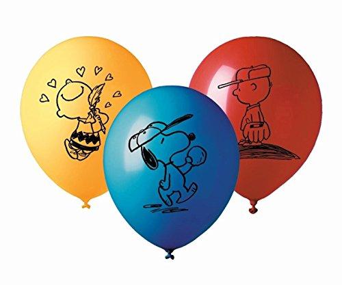 PEANUTS * für Kindergeburtstag oder Mottoparty // Cups Balloons Charlie Brown Snoopy ()