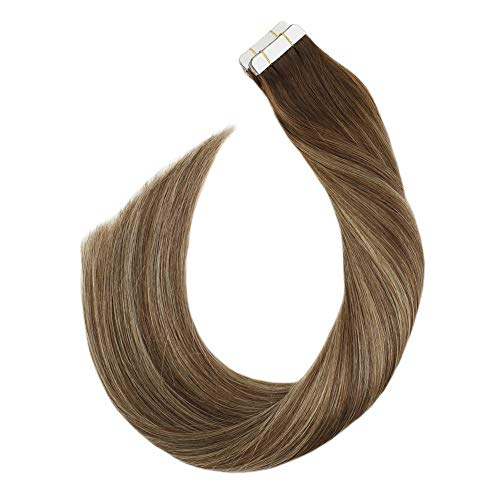 Ugeat Tape in Hair Extensions Human Hair #4/27/4 Balayage