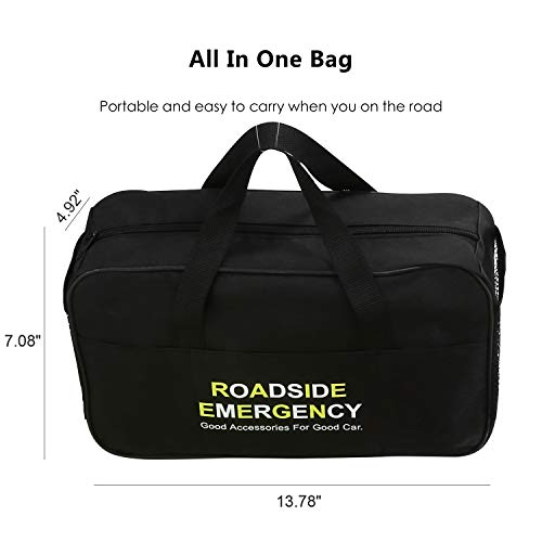 41FrjW7AuBL - Sailnovo Kits de Emergencia del Coche Portátil Botiquin Coche de Asistencia en Carretera Multifuncional 97 en 1