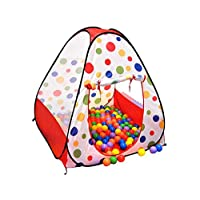 Tent for kids with 100 colorful balls made at Taiwan