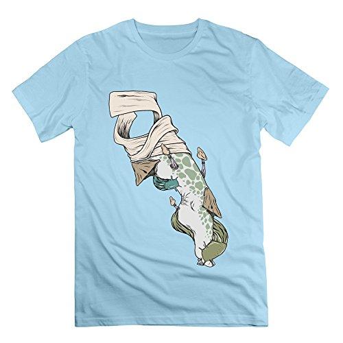Sophie Warner Herren T-Shirt Gr. S, Blau - Skyblue
