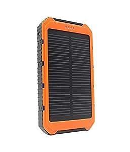 DoSHIn® 20000mAh Chargeur solaire Double Sunlight USB Chargeur de batterie solaire de la Banque d'alimentation externe de sauvegarde Power Pack Chargeur Poratble avec lumière LED pour iPhone + 6,6, 5S, 5C, 5, iPad Air, Mini Samsung Galaxy S6, S5, la note 4,3 , 2, Smartphone Android et Caméra ect; (Orange)