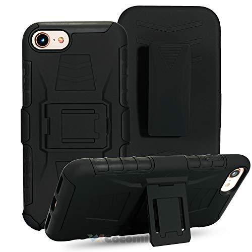 Cocomii Bionic Armor iPhone 8/iPhone 7 Hülle NEU [Strapazierfähig] Gürtelclip Ständer Stoßfest Gehäuse [Militärisch Verteidiger] Case Schutzhülle for Apple iPhone 8/iPhone 7 (Bi.Black) -