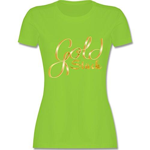 Statement Shirts - Goldstück - tailliertes Premium T-Shirt mit Rundhalsausschnitt für Damen Hellgrün