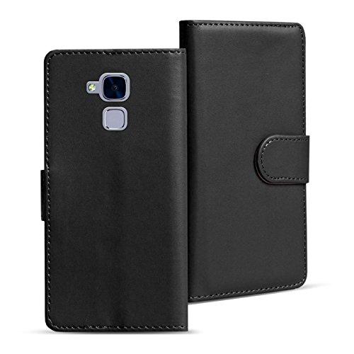 Huawei GT3 Cover Schutzhülle im Bookstyle aufklappbare Hülle aus PU Leder Farbe: Schwarz