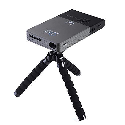 CSQ C2 Mini Smart Proyector de video portátil 1.2GHz Quad-core 8GB Smart TV Box Wifi Bluetooth 4.0 DLP DLNA Full HD 1080P 3D Proyector de cine en casa compatible con sistema operativo Android