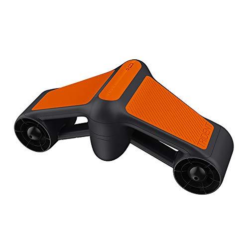 ZUZEN 2019 Nuovo Tridente Impermeabile Elettrico Scooter subacqueo Acqua di Mare Due velocità elica Piscina per Immersione Scooter Attrezzature per Sport Acquatici,Orange